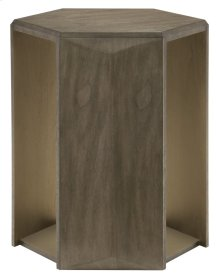 Profile Hexagon Chairside Table in Profile Warm Taupe (378)