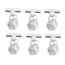 """MATTE WHITE TRACK HEAD, 120V, FITS GU10, (LIGHT SOURCE NOT INCLUDED)L2.94"""" W2.31"""" H5.75"""" 6 PACK"""