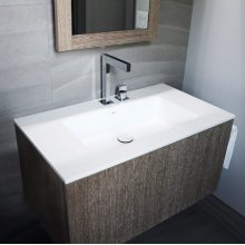 "series 900 blustone™ vanity top, 4"" thick, White gloss 35 1/2"" x 20 1/4"""
