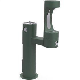 Elkay Outdoor EZH2O Bottle Filling Station Bi-Level Pedestal, Non-Filtered Non-Refrigerated Evergreen