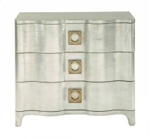 Salon Nightstand in Antique Silver Leaf (341)