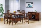 Tile Top Pub Table w/ b'fly leaf Product Image