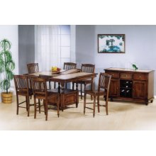 Tile Top Pub Table w/ b'fly leaf