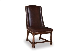 Whiskey Oak Leather Side Chair