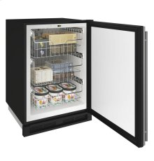 "1000 Series 24"" Convertible Freezer With Stainless Solid Finish and Field Reversible Door Swing"