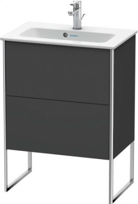 Vanity Unit Floorstanding Compact, Graphite Matt (decor)