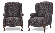 High back recliner with Oak Queen Anne legs Product Image