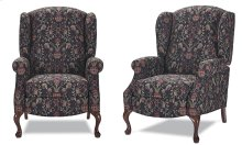 High back recliner with Oak Queen Anne legs