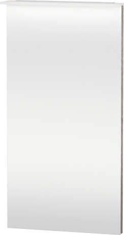 Mirror With Lighting, Cashmere Oak