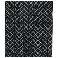 9'x12' Size Charcoal Patterned Rug