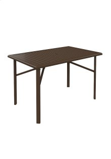 """Banchetto 66"""" x 42"""" Rectangular Bar Umbrella Table"""