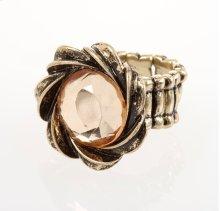 BTQ Burnished Gold Rhinestone Ring