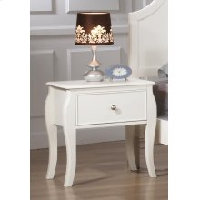 Dominique French Country White Nightstand