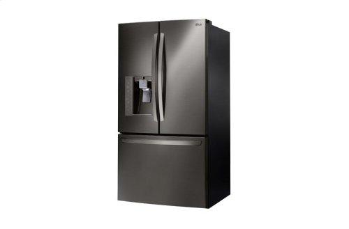 LG Black Stainless Steel Series 24 cu. ft. Counter-Depth 3-Door French Door Refrigerator