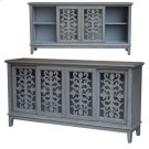 Hampton Brushed Grey 4 Sliding Door Media Console Product Image