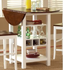 Ridgewood White and Cherry Counter Dining Table