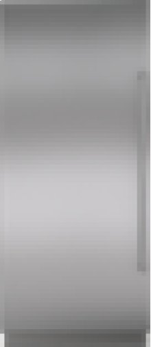 "Integrated Stainless Steel 36"" Column Door Panel with Pro Handle - Left Hinge"