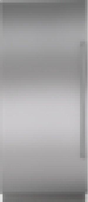 "Integrated Stainless Steel 36"" Column Door Panel with Pro Handle - Left Hinge"