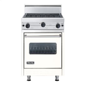"Cotton White 24"" Char-Grill Companion Range - VGIC (24"" wide range with char-grill, single oven)"