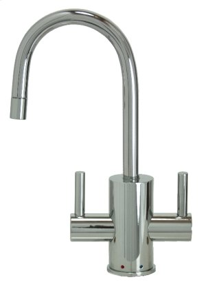 Francis Anthony Collection - Hot & Cold Water Faucet with Contemporary Round Body & Handles - Polished Chrome Product Image