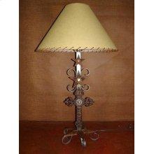 Metal Lamp With Cross