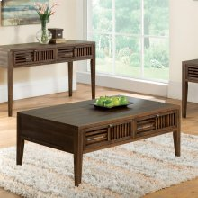 Modern Gatherings - Open Slat Coffee Table - Brushed Acacia Finish
