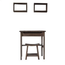 S/4 Vanity,Stool&2 Shelves