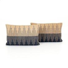 Lumbar Pillow Style Reverse Stripe Pillow, Set of 2