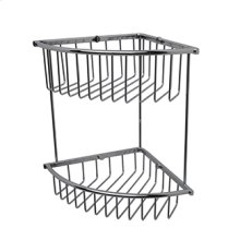 Essentials Corner Double Wire Soap Basket, Large