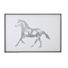 Silver Foil Horse