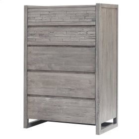 Callisto Chest with 5 Drawers, Weathered Gray