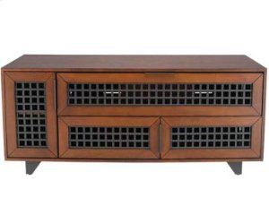 """Dark Cherry AV Stand For TVs up to 60"""" and 100 lbs / 45 kg"""