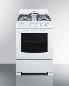 """24"""" Wide Gas Range In White With Sealed Burners and Oven Window; Replaces Rg244w"""