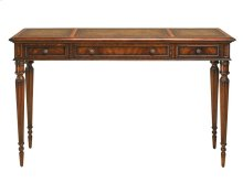 CONSOLE TABLE W/LEATHER INLAY