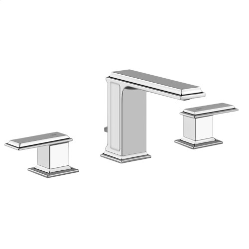 "Widespread washbasin mixer with pop-up assembly Spout projection 5"" Height 4-5/8"" Includes drain Max flow rate 1"