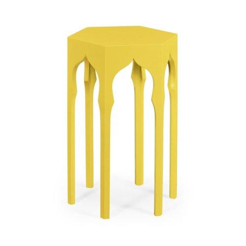 Hexagon Lamp Table (Yellow Rain Coat)