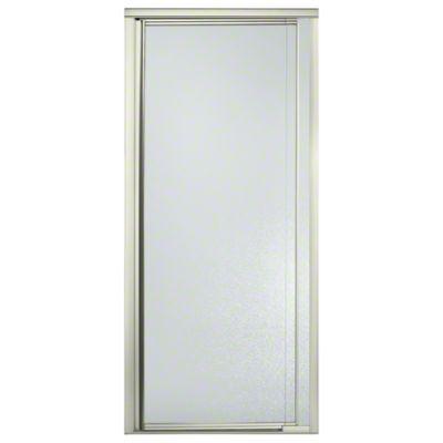 """Vista Pivot™ II Shower Door - Height 65-1/2"""", Max. Opening 31-1/4"""" - Nickel with Pebbled Glass Texture"""