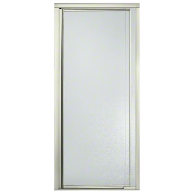 "Vista Pivot™ II Shower Door - Height 65-1/2"", Max. Opening 31-1/4"" - Nickel with Pebbled Glass Texture"