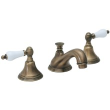 """Huntington 8"""" Widespread Series with Porcelain Levers - Black"""