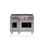 """WOLF48"""" Dual Fuel Range - 6 Burners and Infrared Charbroiler"""
