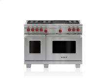 "48"" Dual Fuel Range - 6 Burners and Infrared Charbroiler"