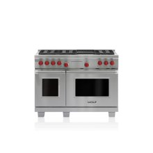 """48"""" Dual Fuel Range - 6 Burners and Infrared Charbroiler"""