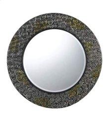 Salisbury round polyurethane beveled mirror