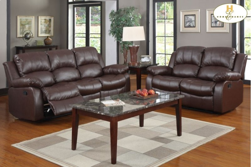 9700brw3 In By Homelegance In Sparks Nv Double Reclining Sofa