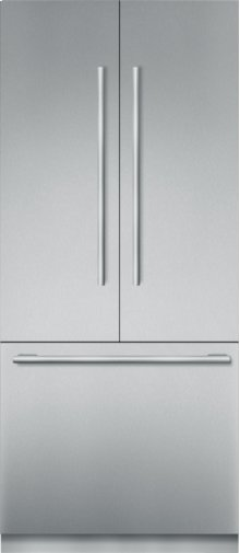 36 inch Stainless Steel Built In French Door bottom Freezer, Pre-Assembled, Masterpiece® Handle T36BT910NS