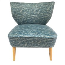 Palm Harbor Upholstered Blue Pattern Lounge Chair
