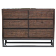 Modern Industrial 6 Drawer Dresser