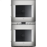 "Gaggenau400 series 400 series double oven Stainless steel-backed full glass door Width 30"" (76 cm) right-hinged Controls centered"