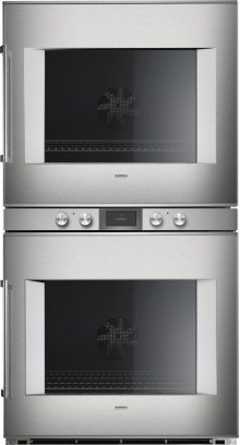 """400 Series Double Oven Stainless Steel-backed Full Glass Door Width 30"""" (76 Cm) Right-hinged Controls Centered"""