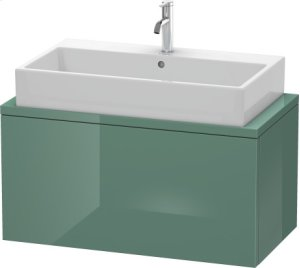 Delos Vanity Unit For Console Compact, Jade High Gloss Lacquer Product Image